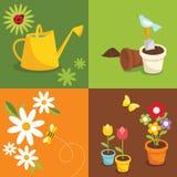 arbeta i trädgården Arkivbild