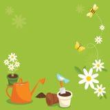 arbeta i trädgården royaltyfri illustrationer