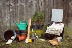 arbeta i trädgården hjälpmedel Royaltyfri Fotografi