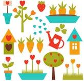 arbeta i trädgården set hjälpmedel Royaltyfria Bilder