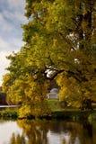 arbeta i trädgården stourhead uk wiltshire Royaltyfri Fotografi