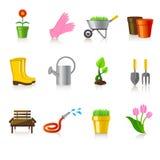 arbeta i trädgården symboler