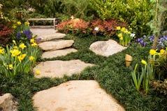 arbeta i trädgården trailen Arkivbild