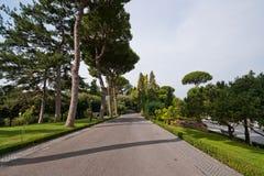 arbeta i trädgården vatican walkat Arkivfoto
