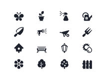 arbeta i trädgården symboler Lyra serie Arkivfoton