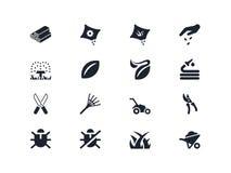 Arbeta i trädgården symboler 2 Lyra serie Arkivbilder