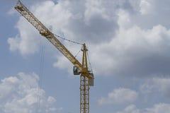 Arbeta på den konstruktionsplatsen, kranen och konstruktion royaltyfri foto