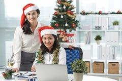 Arbeta på juldag Royaltyfria Bilder