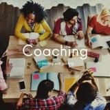 Arbeta som privatlärare åt utbilda instruktören Management Concept royaltyfria foton