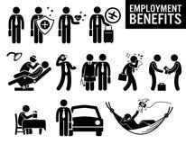 Arbetaranställning Job Benefits Clipart royaltyfri illustrationer