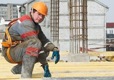 arbetare för byggmästarekonstruktionslokal Royaltyfria Foton