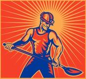 arbetare för kolgruvarbetarearbete vektor illustrationer