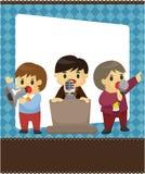 arbetare för kortkontorssamtal stock illustrationer