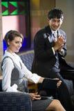 arbetare för lokal två för affärskontor unga väntande Royaltyfri Bild