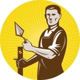 arbetare för muraremasonplasterer royaltyfri illustrationer