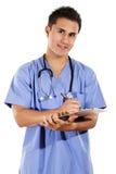 arbetare för omsorgshälsomanlig Arkivfoto