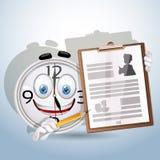 Arbetare för resume för Watchleendeshows stock illustrationer