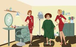 arbetare för skönhetbeställaresalong två vektor illustrationer