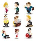 arbetare för tecknad filmsymbolskontor vektor illustrationer