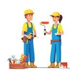Arbetare i likformig royaltyfri illustrationer