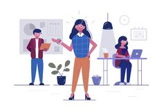 Arbetare i regeringsst?llning royaltyfri illustrationer