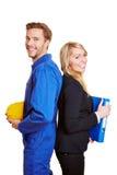 Arbetare och affärskvinna Royaltyfria Foton