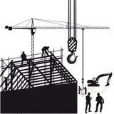 Arbetare på konstruktionsplats royaltyfri illustrationer