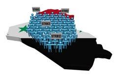 Arbetare på slag på den Irak översikten sjunker illustrationen vektor illustrationer