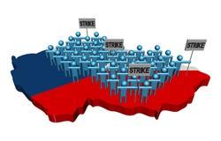 Arbetare på slag på tjeckisk översikt sjunker illustrationen vektor illustrationer