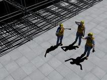 Arbetare p? en konstruktionsplats royaltyfri illustrationer
