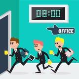 Arbetare som kör till kontoret Affärsmän som går att arbeta royaltyfri illustrationer