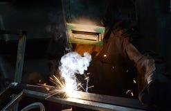 Arbetare-welder svetsningsmetall Arkivbilder
