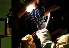 Arbetare-welder tillverkningmetall Royaltyfria Foton
