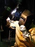 Arbetare-welder tillverkningmetall Royaltyfri Foto
