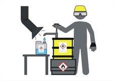 Arbetaremblem, kemist stock illustrationer