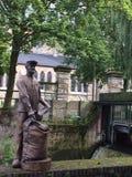 Arbetares staty i Gronau Arkivbild