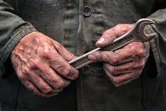 Arbetarhänder Arkivfoto