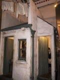 Arbetarklassboningutställning i det regements- museet i stadsmuseet i Lancaster England i mitten av staden arkivfoton