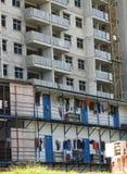 Arbetarsovsal och konstruktionsplats Royaltyfri Fotografi