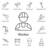 Arbetarsymbol Enkel beståndsdelillustration Arbetarsymboldesign från konstruktionssamlingsuppsättning Kan användas för rengörings royaltyfri illustrationer