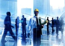 Arbete C för teknikerarkitektProfessional Occupation Corporate stad Arkivbilder