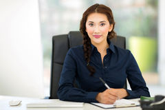 Arbete för affärskvinna arkivbild