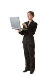 arbete för affärsseriekvinna arkivfoto