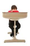 arbete för barnskrivborddeltagare arkivbild