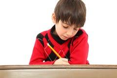 arbete för barnskrivborddeltagare fotografering för bildbyråer