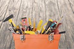 arbete för hjälpmedel för utrustningfowskruvnyckel Royaltyfri Bild