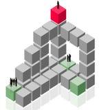 arbete för lag för abstrakt grupp för affärskund händande stock illustrationer