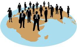 arbete för resurser för folk för affärskraft globalt stock illustrationer