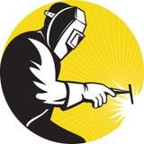 arbete för svetsning för welder för sidosikt stock illustrationer