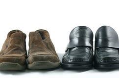 arbete för tillfälliga skor Arkivbild